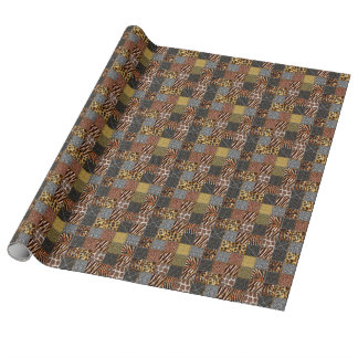 "Safari-Patchwork Tyvek Packpapier, 30"" x 6' Einpackpapier"