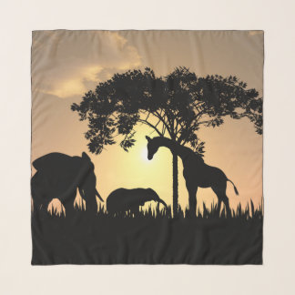 Safari schöner Chiffon- Schal