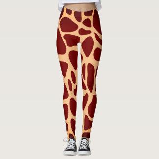Safari-Tiergiraffen-Druck Leggings