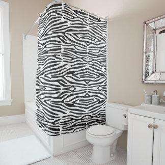 Safaritierzebra-Druck-Duschvorhang Duschvorhang