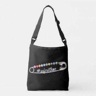 #SafeWithMe dunkle Riemen-Tasche Tragetaschen Mit Langen Trägern