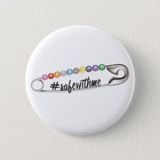 #SafeWithMe runder Knopf Runder Button 5,7 Cm