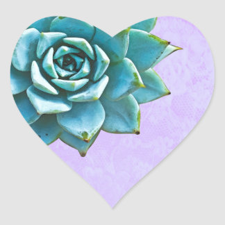Saftige Aquarell-Lavendel-Spitze Herz-Aufkleber