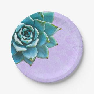 Saftige Aquarell-Lavendel-Spitze Pappteller