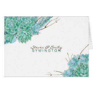 Saftige Hochzeit danken Ihnen merkt 3961 Karte