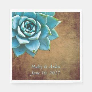 Saftige Hochzeit oder Verlobung rustikales Brown Papierserviette