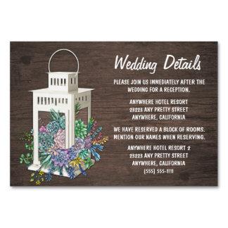 Saftige Laternen-Hochzeits-Empfangs-Einsatz-Karten