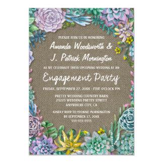 Saftige Leinwand-Verlobungs-Party Einladungen