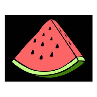 Saftige Wassermelone Postkarte