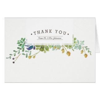 Saftiger Garten   danken Ihnen zu kardieren Karte