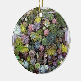 Saftiger Gartenentwurf Rundes Keramik Ornament