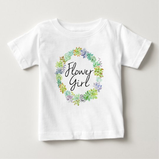 Saftiges Garten| Watercolor-Blumen-Mädchen Baby T-shirt
