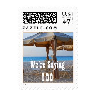 Sagen Sie, dass ich Strand-Hochzeit einlade tue Briefmarken