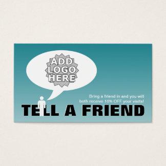 sagen Sie einem Freundempfehlungs-Comic Visitenkarten