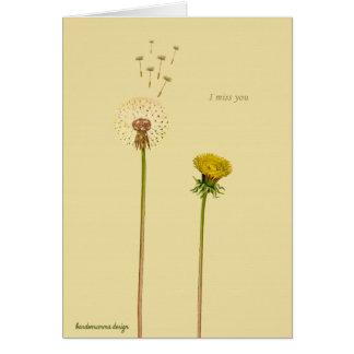 Sagen Sie es mit Blumen: Du fehlst mir Grußkarte