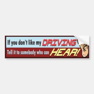 Sagen Sie es zu sombody, wer HÖREN kann! Autoaufkleber