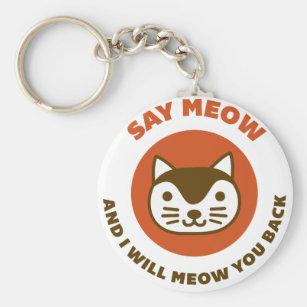 Sagen Sie Meow Schlüsselanhänger