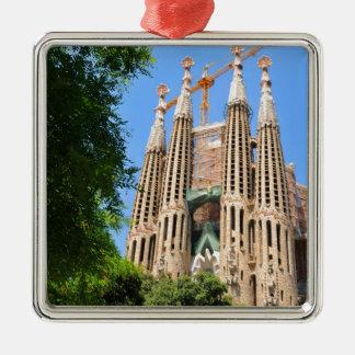 Sagrada Familia in Barcelona, Spanien Silbernes Ornament