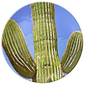 Saguaro bewaffnet Cartoon-dekorative Platte Teller