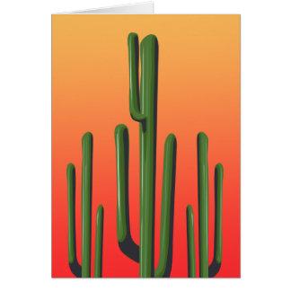 Saguaro-Kaktus-Sonnenuntergang-Gruß-Karte Karte
