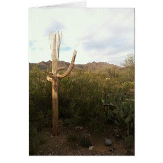 Saguaro-Skeleton leere Anmerkungs-Karte Karte