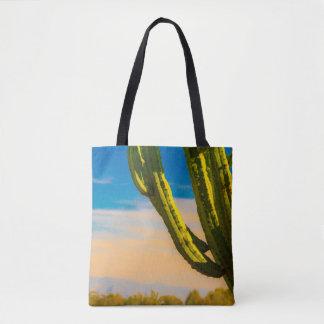 Saguaro-Wüsten-Kaktus auf einem blauer