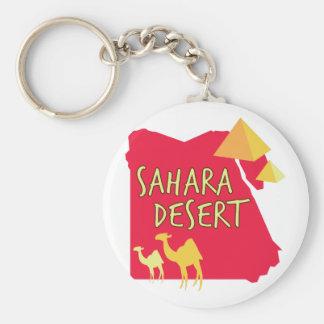 Sahara-Wüste Standard Runder Schlüsselanhänger