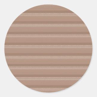 Sahnige Groov Muster NVN303 SPASS-DEKO-Schatten Runder Aufkleber