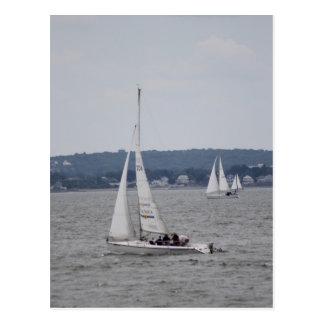 Sailboating Postkarte