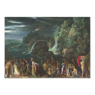 Saint Paul in Malta durch Adam Elsheimer 12,7 X 17,8 Cm Einladungskarte