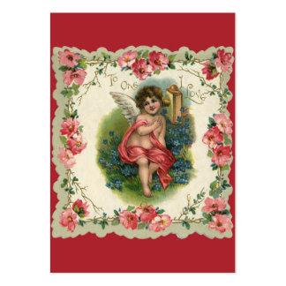 Saint-Valentin vintage, ange victorien au Carte De Visite Grand Format