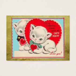 Saint-Valentin vintage Valentine d'enfants de Cartes De Visite