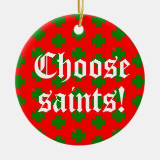 Saints_Aplenty Slogan Circ (Weihnachten Ed. #2) Keramik Ornament