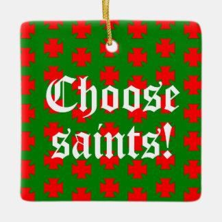 Saints_Aplenty Slogan-Quadrat (Weihnachten Ed. #1) Ornament