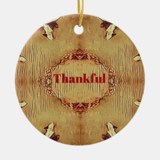 "Saisonfall-""dankbare"" Entwurfs-Tasche Keramik Ornament"