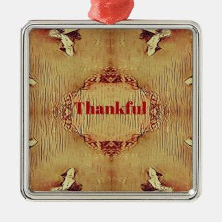 "Saisonfall-""dankbare"" Entwurfs-Tasche Silbernes Ornament"