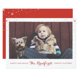Saisonschein-Feiertags-Foto-Karte 12,7 X 17,8 Cm Einladungskarte