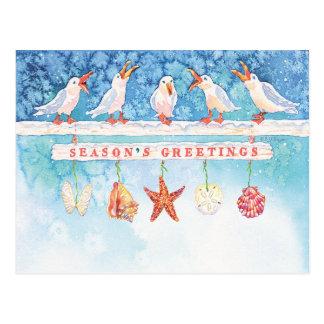 Saisonseemöwen Postkarte