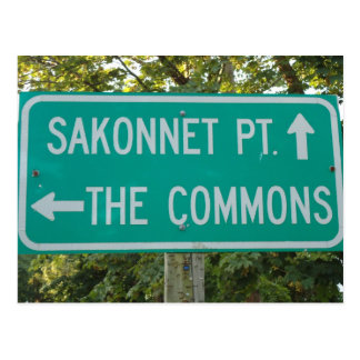 Sakonnet Punkt, die Common, kleines Compton, RI Postkarte