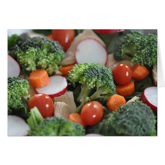 Salat-Karte Grußkarte