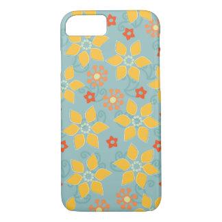 Salbei und GoldRetro BlumeniPhone 7 Fall iPhone 8/7 Hülle