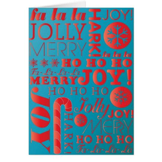 *SALE* moderne Feiertags-Karte: Designer-Farben Karte