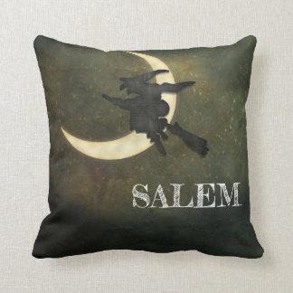 Salem-Mass.-Hexefliegen auf Besen-Wurfskissen Kissen