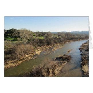 Saline-Fluss von der Weinberg-Brücke, Templeton, Grußkarte