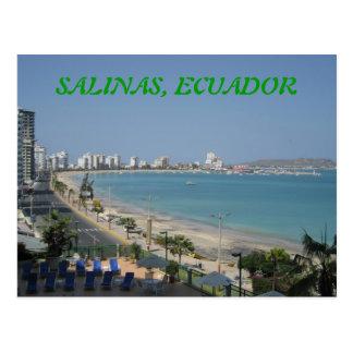 SALINEN, ECUADOR POSTKARTE