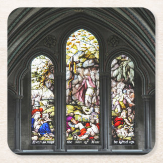 Salisbury-Kathedrale Transept Buntglas-Fenster Rechteckiger Pappuntersetzer