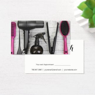 Salon bearbeitet rosa und schwarze visitenkarte