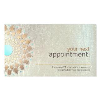 Salon de Lotus d or et carte de rendez-vous de spa Cartes De Visite Professionnelles