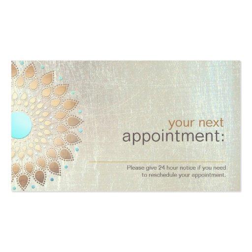 Salon de Lotus d'or et carte de rendez-vous de spa Cartes De Visite Professionnelles