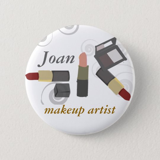 Salon-Wellness-Center-Make-upkünstler-Kosmetik Runder Button 5,7 Cm